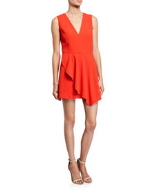Alice + Olivia Callie V-Neck Sleeveless Asymmetric