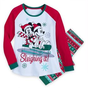 Disney Mickey and Minnie Mouse Holiday Pajamas for