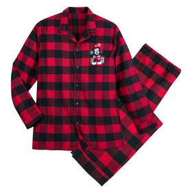 Disney Mickey Mouse Holiday Plaid PJ Set for Men