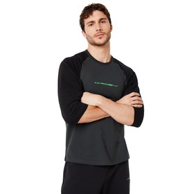 Oakley Tee College 3/4 - Blackout