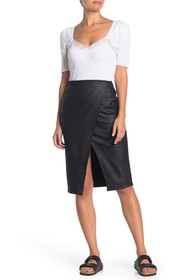 Free People Whitney Faux Leather Skirt