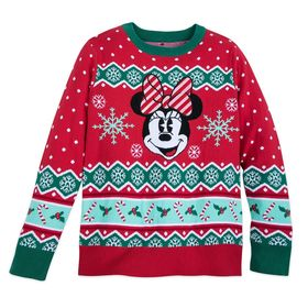 Disney Minnie Mouse Family Holiday Sweater for Wom