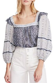 Free People Mostly Meadow Mixed Print Blouse