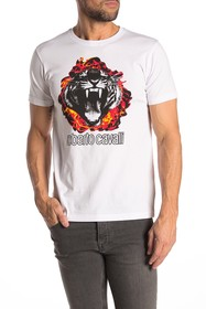 Roberto Cavalli Front Graphic Short Sleeve T-Shirt
