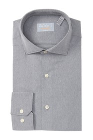 Perry Ellis Slim Fit Herringbone Dress Shirt