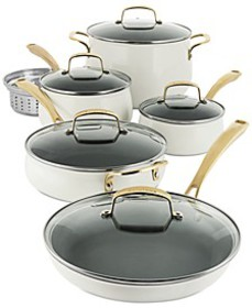 11-Pc. White Cookware Set, Created for Macy's