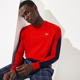 Lacoste Men's SPORT Color-Blocked Breathable Wool