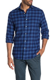 Thomas Dean Gingham Check Print Shirt