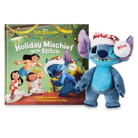 Disney Stitch Poseable Plush and ''Holiday Mischie