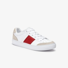 Lacoste Men's Courtline Leather and Suede Sneakers