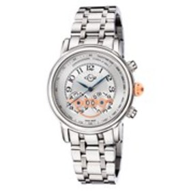 GV2 GV2 Montreux Mens Textured Dial Stainless Stee on sale at Burlington Coat Factory