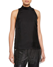 Brunello Cucinelli Satin Cut-In Shoulder Tunic
