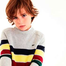 Lacoste Boys' Multicolored Striped Wool And Cotton