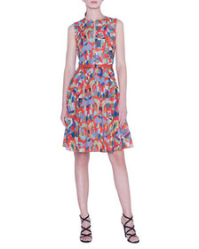 Akris Indian Summer Voile Dress