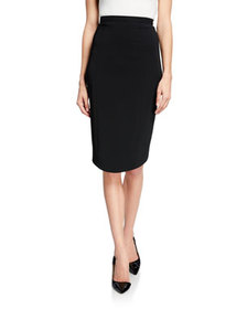Thierry Mugler High-Waist Crepe Pencil Skirt