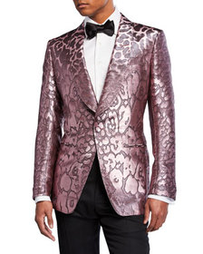 TOM FORD Men's Printed Satin Dinner Jacket