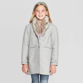 Girls' Faux Fur Collar Jacket - Cat & Jack™ G