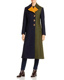 Tory Burch - Color-Blocked Long Coat
