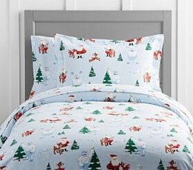 Pottery Barn Rudolph® And Bumble® Flannel Duvet Co
