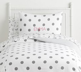 Pottery Barn The Emily & Meritt Twill Dot Duvet
