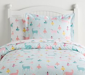 Pottery Barn Organic Windsor Unicorn Duvet