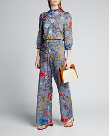 Warm Pickford Midnight Floral Print Pants