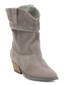 CHARLES BY CHARLES DAVID Suede Mid Shaft Stacked H