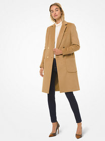 Michael Kors Wool-Blend Double-Breasted Coat