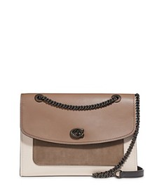 COACH - Parker Color-Block Large Leather & Suede S
