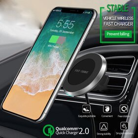 2in1 10W Qi Wireless charging mount Fast Charger C