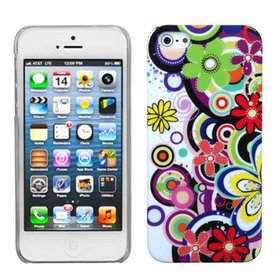 Insten Colorful Flowers Phone Back Case For iPhone