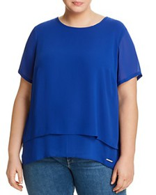 MICHAEL Michael Kors Plus - Short Sleeve Tiered To