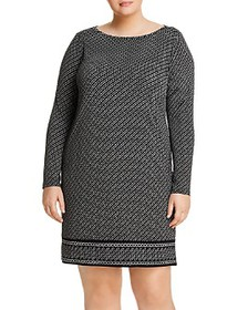 MICHAEL Michael Kors Plus - Chain-Print Shift Dres