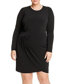 MICHAEL Michael Kors Plus - Draped Crossover Dress