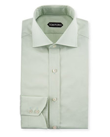 TOM FORD Slim-Fit Solid-Color Poplin Barrel-Cuff D