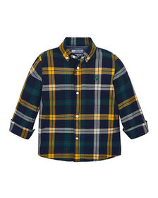 Mayoral Boy's Slim Fit Plaid Button-Down Shirt, Si