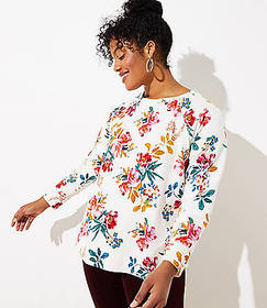 LOFT Plus Floral Sweatshirt