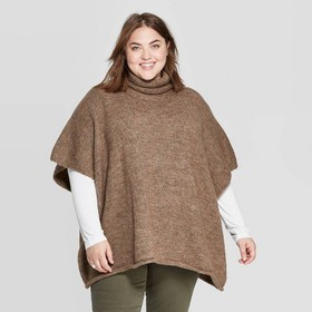 Women's Rolled Edge Poncho - Universal Thread&