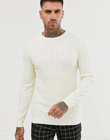 Gianni Feraud Premium Muscle Fit Crew Neck Cable S