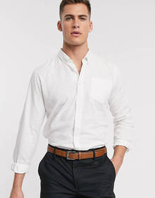 French Connection slim fit long sleeve linen shirt