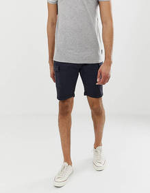 Brave Soul Tall slim fit cargo shorts in navy