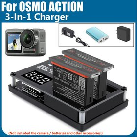 For DJI Osmo Action Camera Charging Hub Battery In