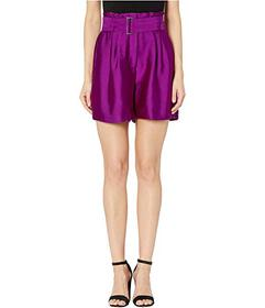 Vince Camuto Textured Satin Paperbag Waist Belted