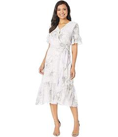 Vince Camuto Tiered Ruffle Sleeve Blossoms Wrap Dr