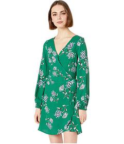 Cupcakes and Cashmere Mystique Printed Wrap Dress