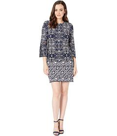 Vince Camuto Printed ITY T-Body Dress with 3\u002F