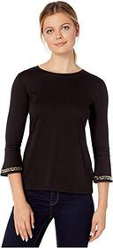 MICHAEL Michael Kors Embroidered Chain 3/4 Sleeve