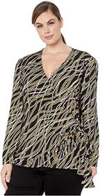 MICHAEL Michael Kors Plus Size Link Bow Wrap Top