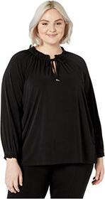 MICHAEL Michael Kors Plus Size Shirred High Neck T