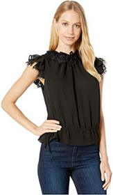 7 For All Mankind Ruffle Neck Sleeveless Top